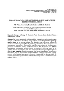 Damage modeling using strain gradient based finite element